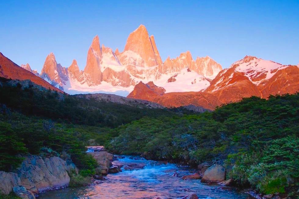 Sonnenuntergang Fitz Roy - Patagonia Argentinia