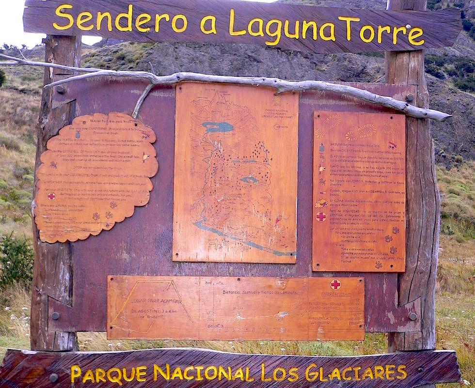 Sendero Laguna Torre Schild - Cerro Torre - Patagonien