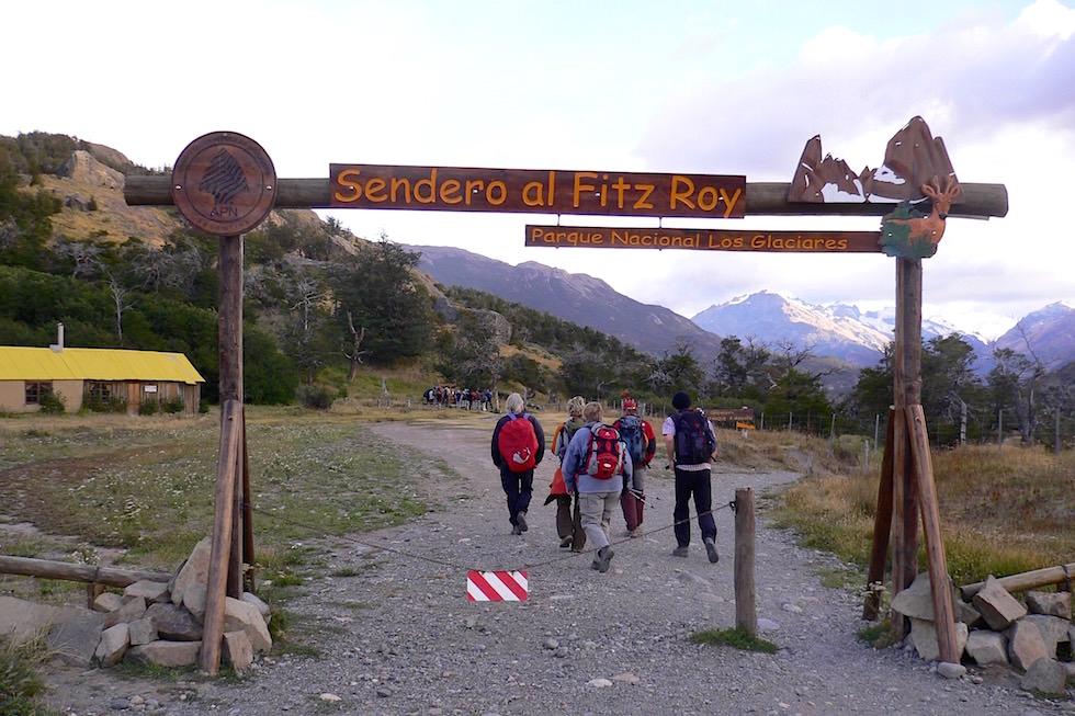 Start Fitz Roy Wanderung - Patagonien
