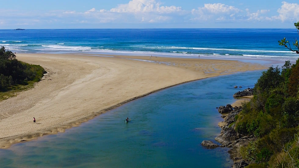 Blick auf Boambee Creek - Sawtell New South Wales
