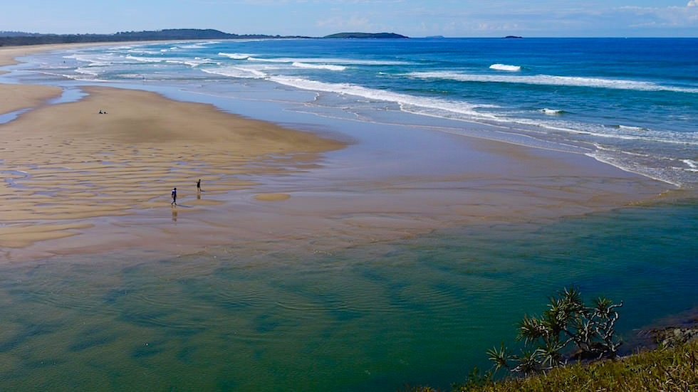 Boambee Creek Estuary Richtung Norden - Sawtell New South Wales