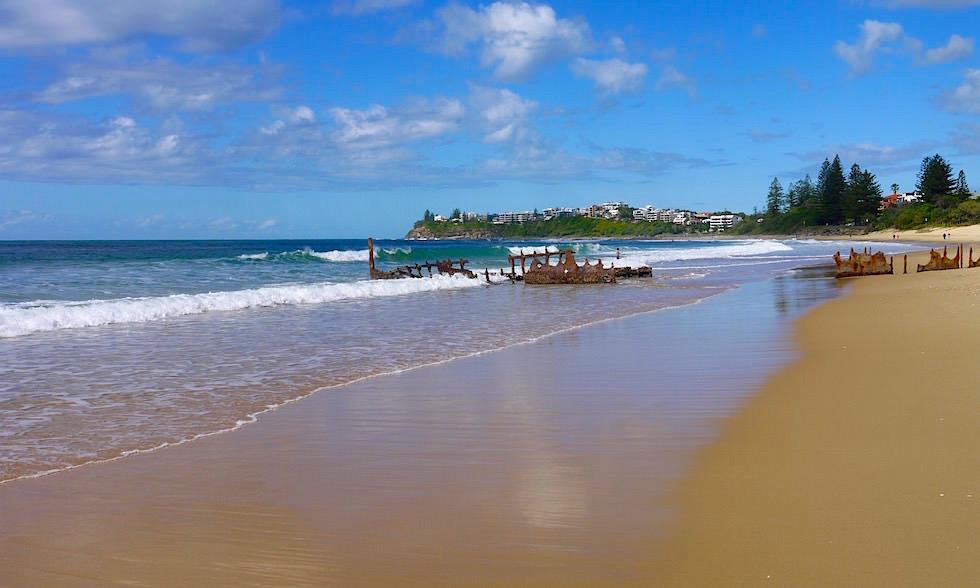 Blick auf Dicky Beach und Moffat Beach Queensland Australien