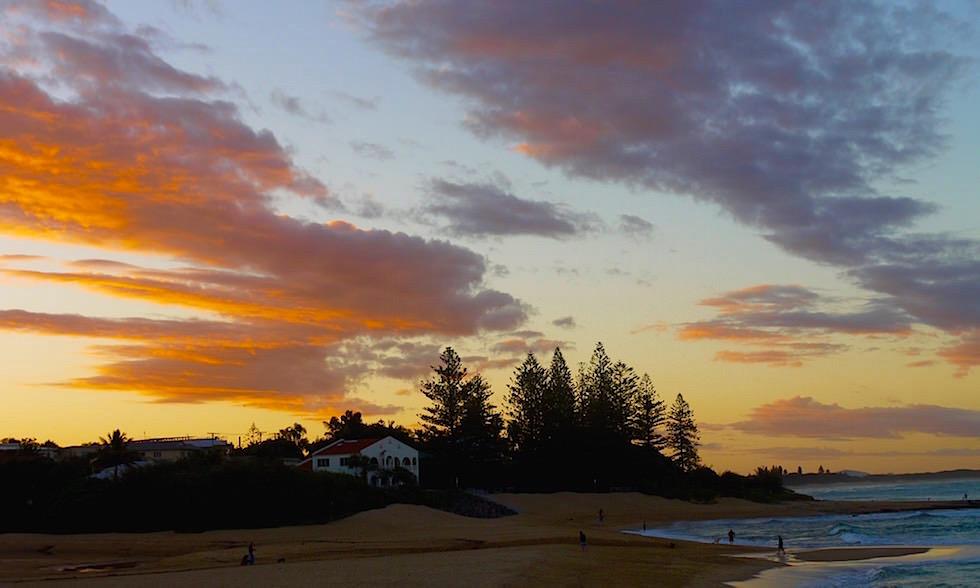 Sonnenuntergang Moffat Beach Queensland