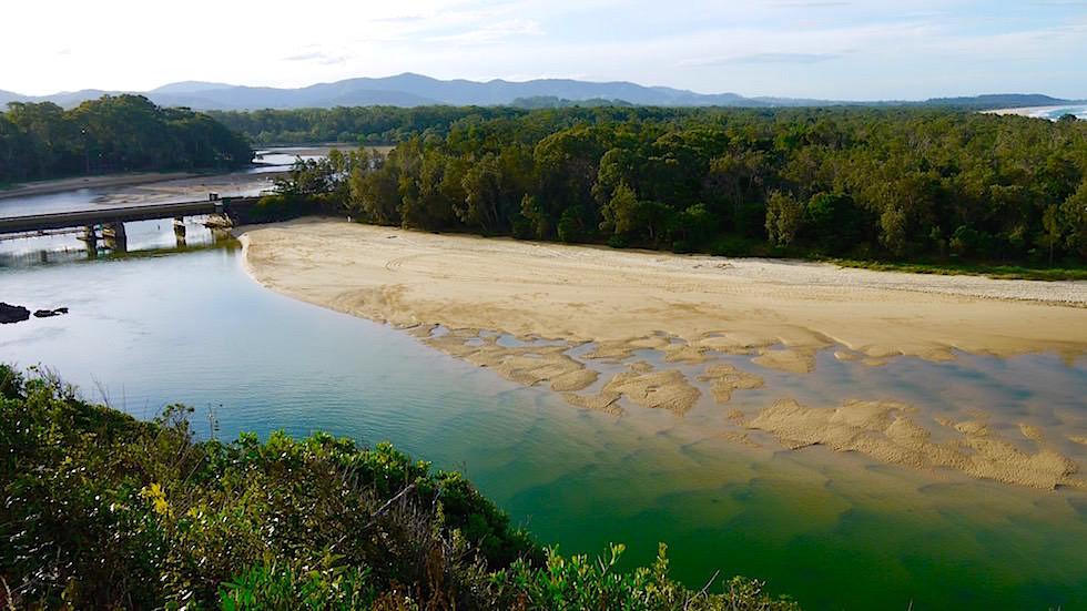 Eisenbahnbrücke über Boambee Creek - Sawtell New South Wales