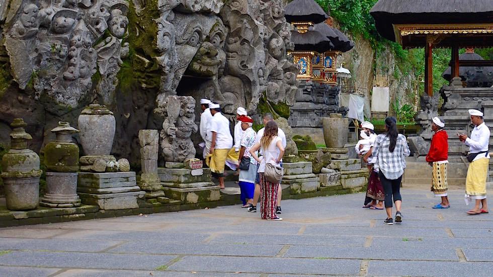 Goa Gajah - Eingang in die Elefantenhöhle nahe Ubud - Bali