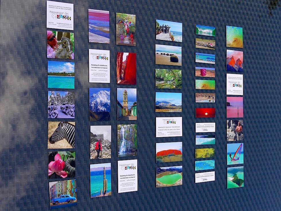 MOO Visitenkarten Überblick - Passenger On Earth