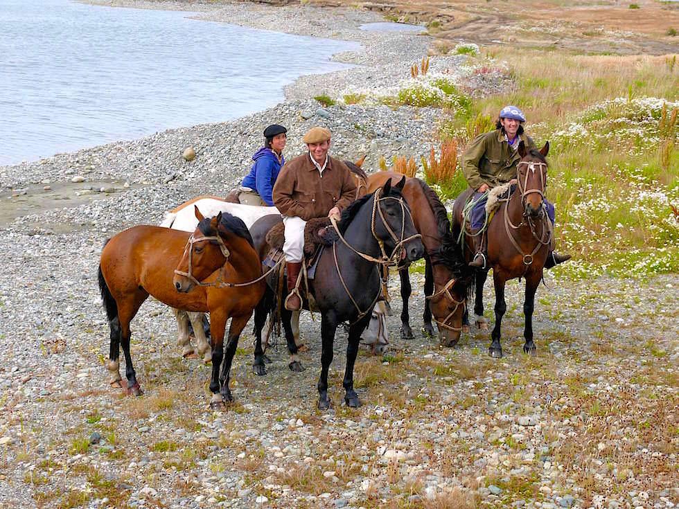 Gauchos bei Puerto Hambre - Punta Arenas - Chile Patagonien