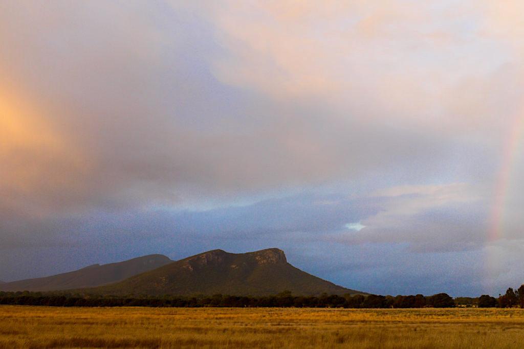 Wimmera Farmland Sonnenuntergang & Abendstimmung - Grampians National Park - Victoria