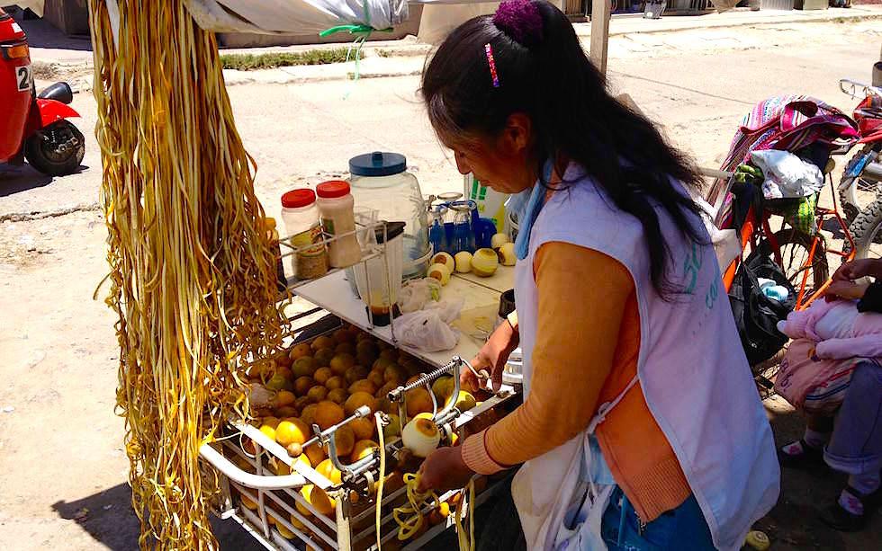Orangen-Schälmaschine - Andahualyas - Peru
