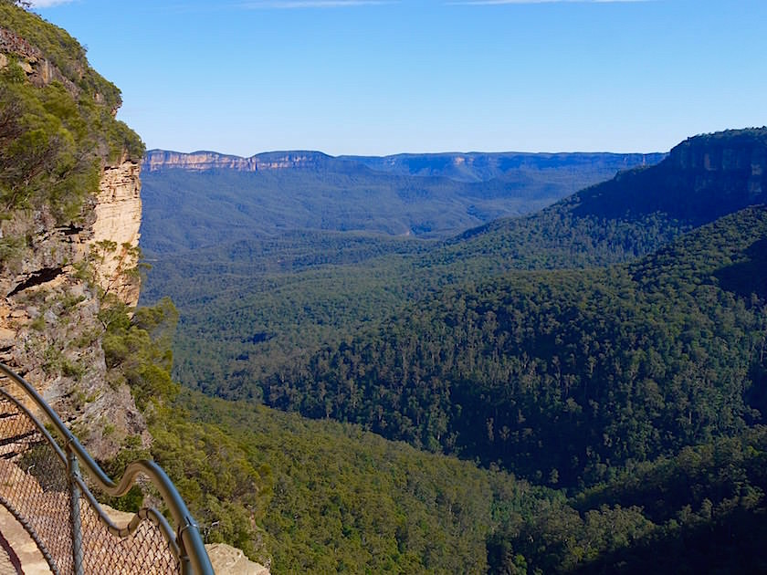 Blick von den Grand Stairway - Wentworth Falls - Blue Mountains - NSW