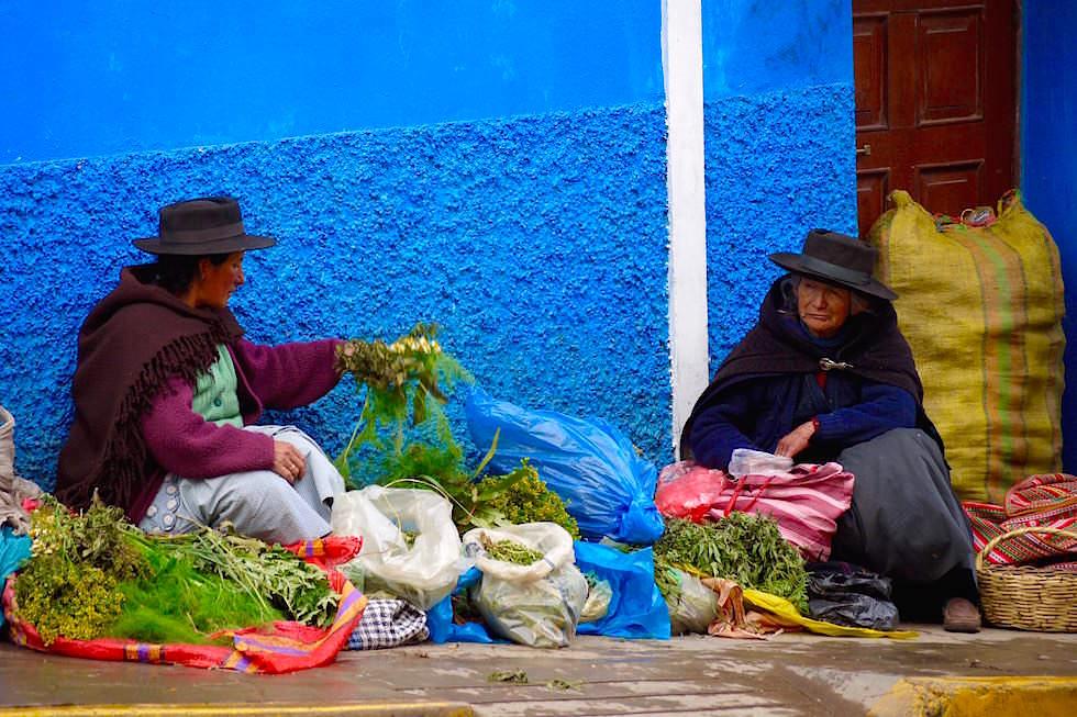Straßenverkauf Huancavelica - Peru