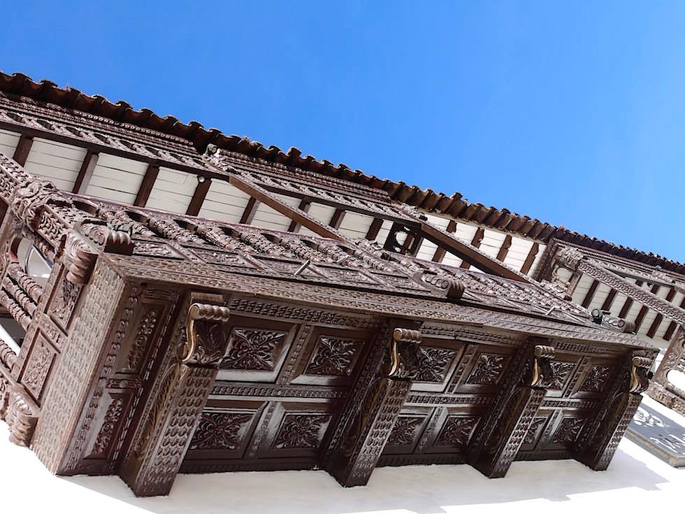 Balkone Kolonialhäuser Plaza de Armas Cusco Peru