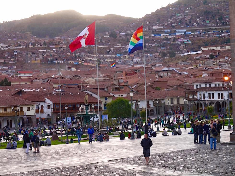 Plaza de Armas im historischen Cusco Peru