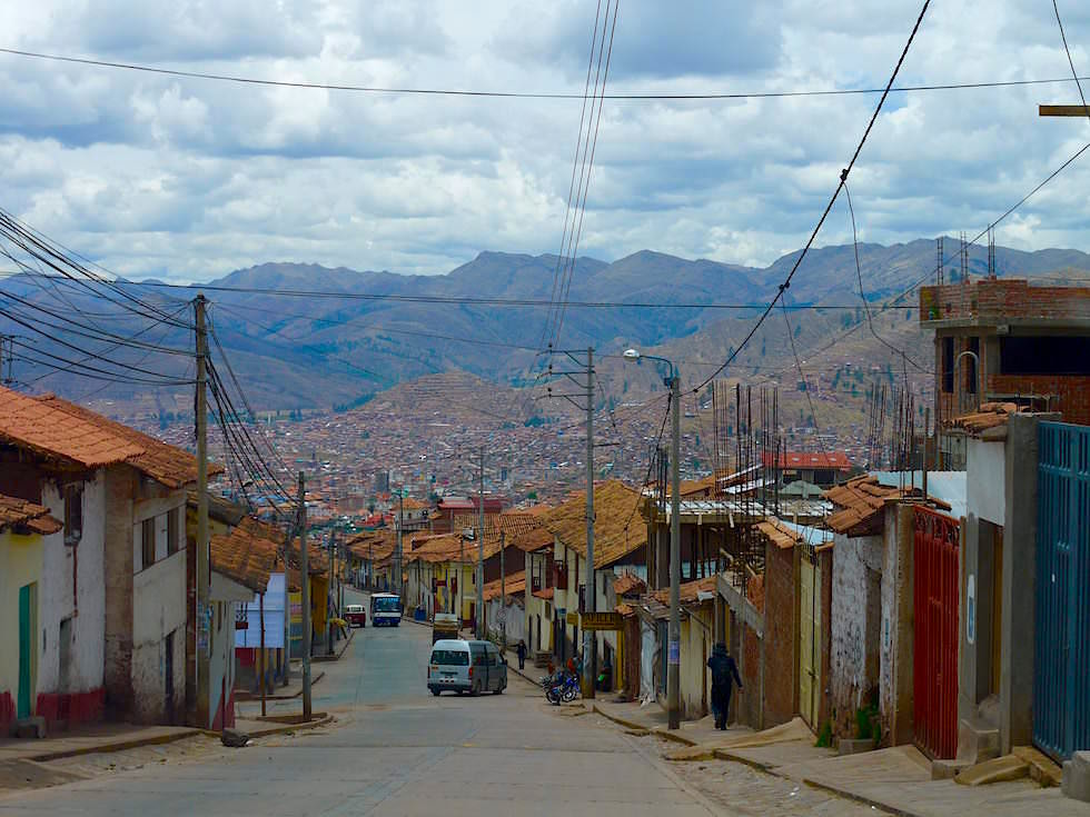 Blick auf Cusco Straßen - Peru