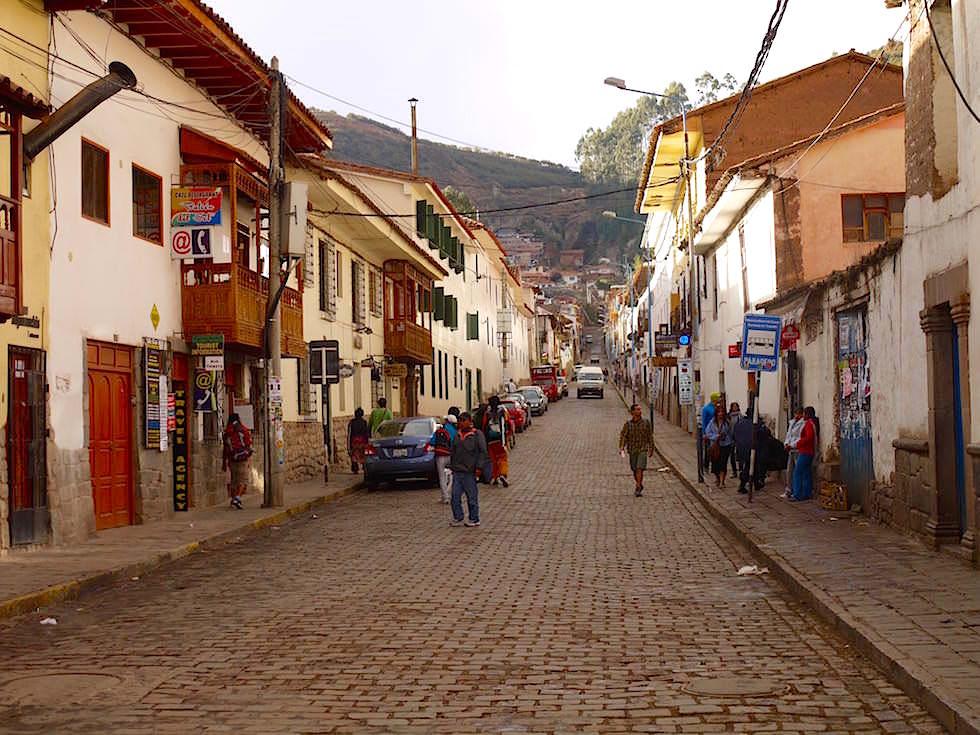 Abgelegene Straßen im Zentrum von Cusco - Peru