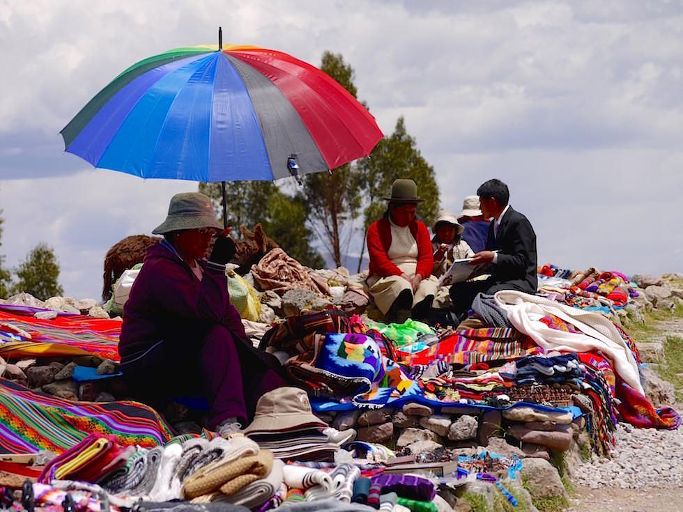 Verkaufsstände bei Tambo Machay - Cusco Highlights - Peru