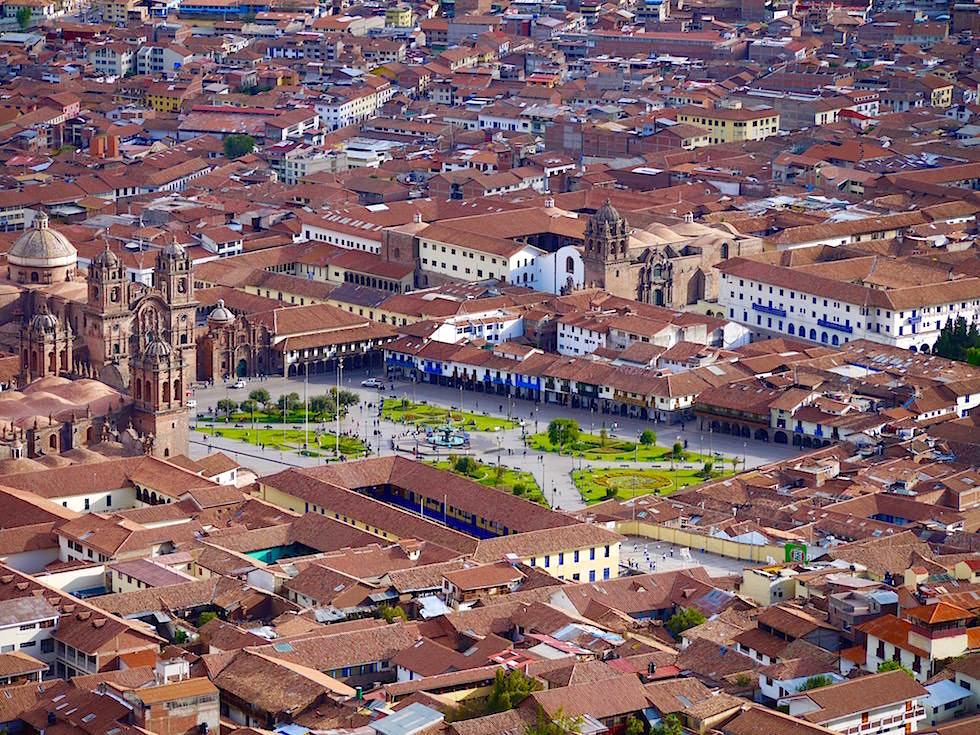 Überblick - Plaza de Armas Cusco Peru