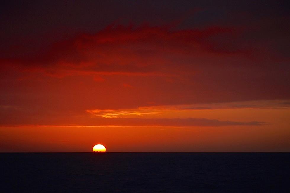 Sonnenuntergang - Galapagos Floreana