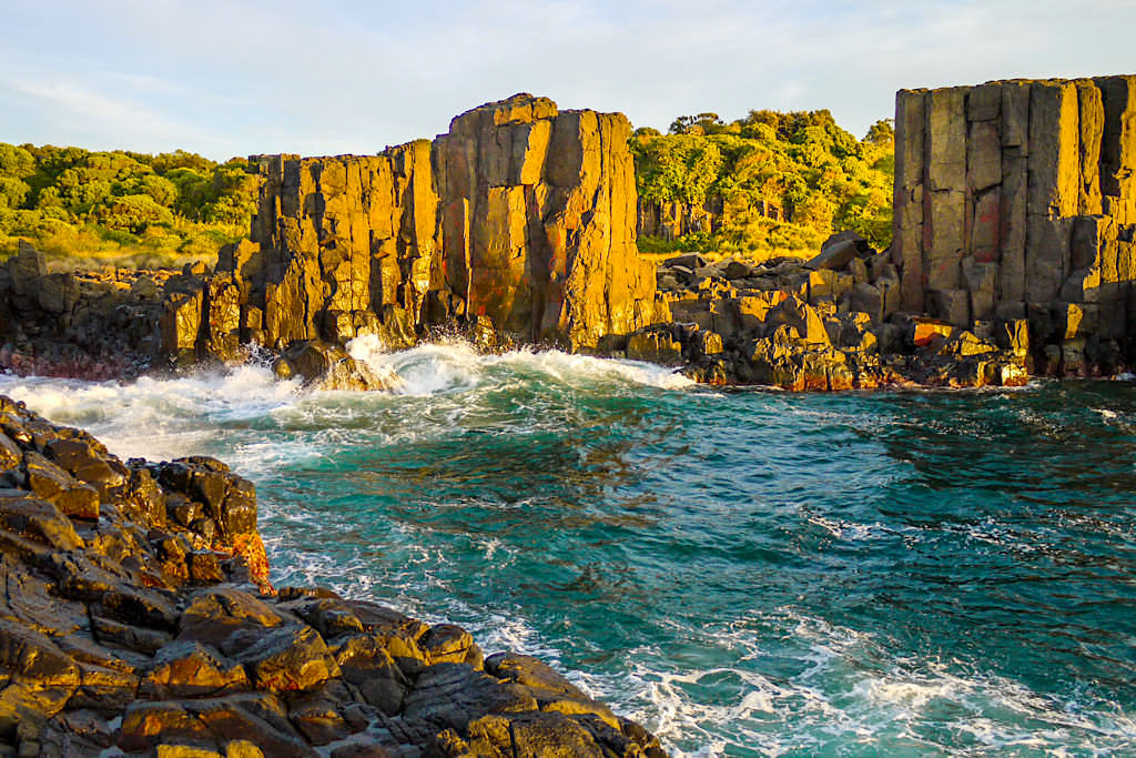 Grandiose Farben: Bombo Quarry bei Sonnenaufgang - Kiama Geheimtipp - New South Wales