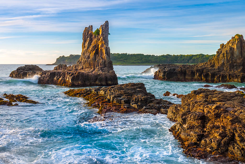 Atemberaubend schöne Felsformationen: Cathedral Rocks - Kiama Highlights - New South Wales