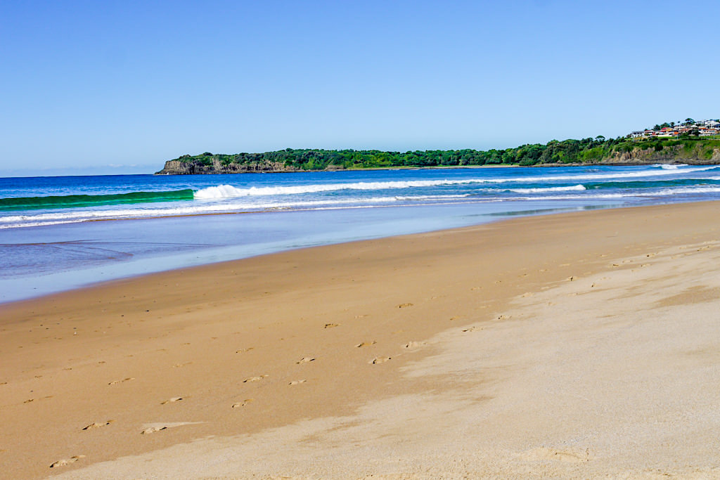 Ein Kiama Insider Tipp: Blick über Jones Beach in Richtung Kiama - New South Wales