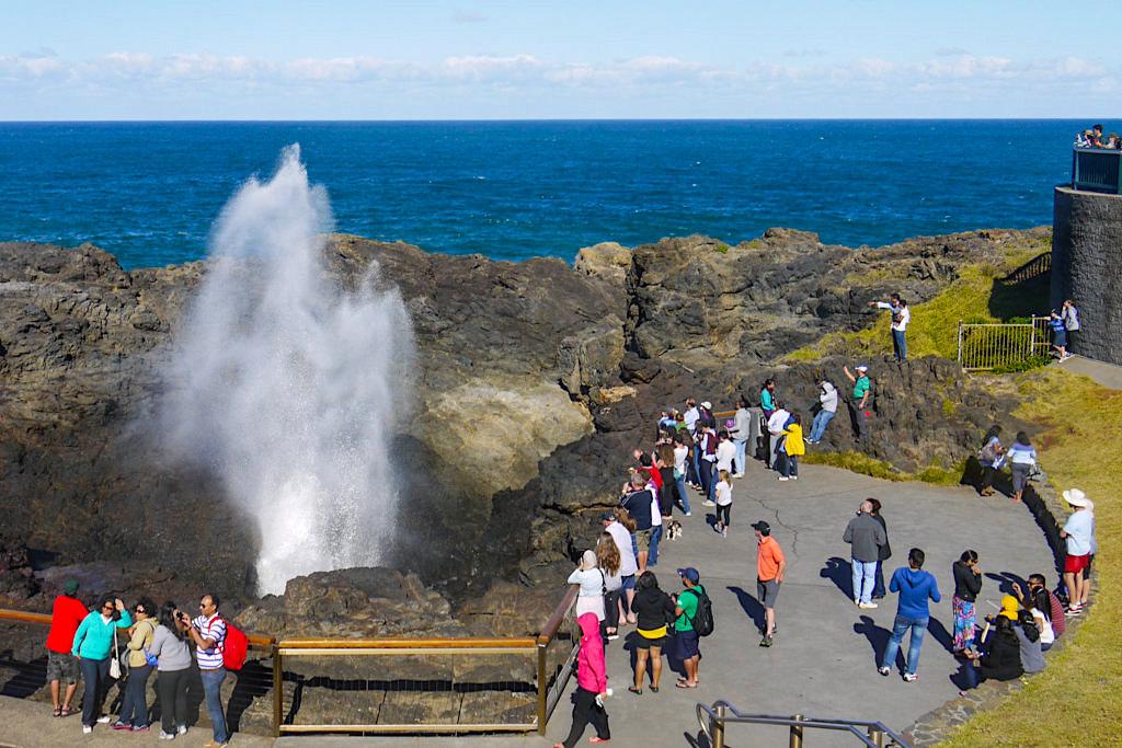 Kiama Blowhole ist eines der größten Blowholes in der Welt & ein Highlight im Süden von Sydney - New South Wales