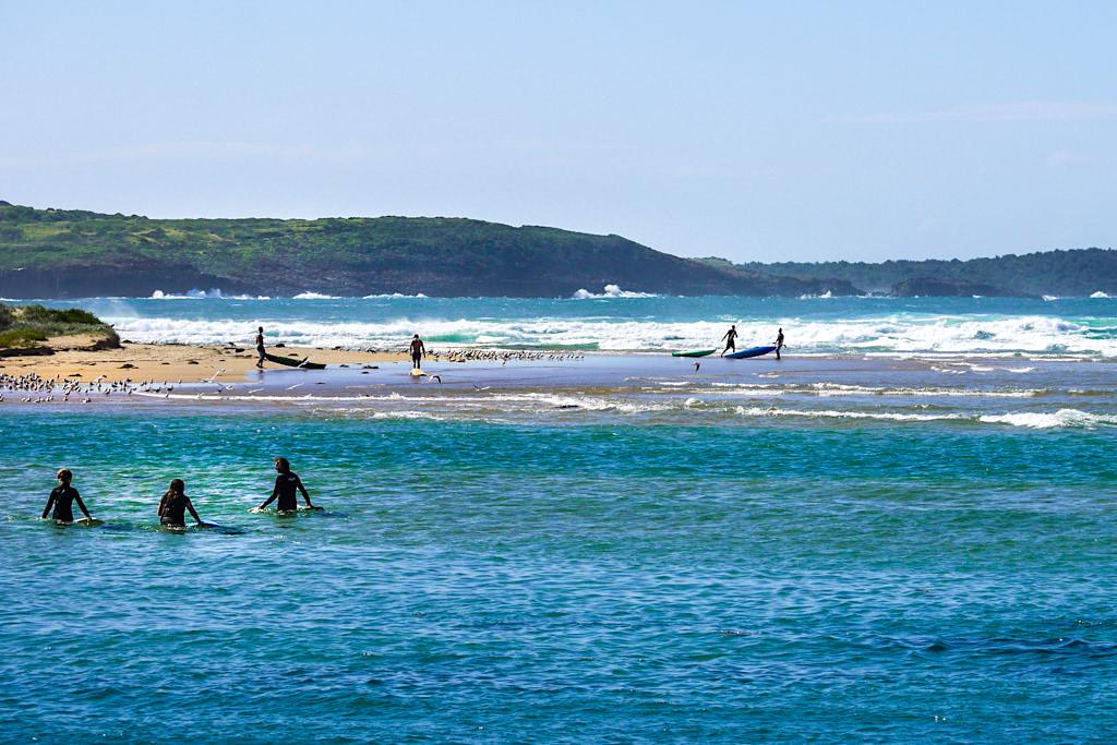 Minnamurra River & Minnamurra Spit: großes Strandvergnügen & Wassersport im Norden von Kiama - New South Wales