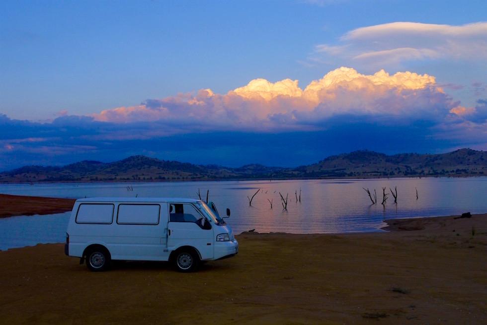 Sonnenuntergang am Lake Hume - Victoria