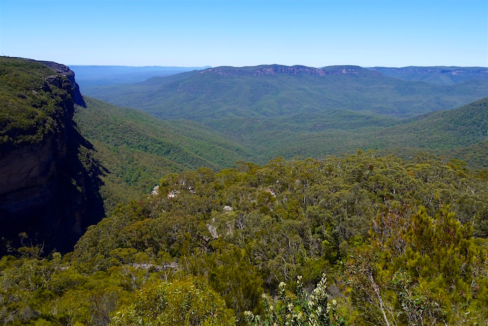 Wentworth Falls Lookout & Jamison Valley - Blue Mountain - NSW