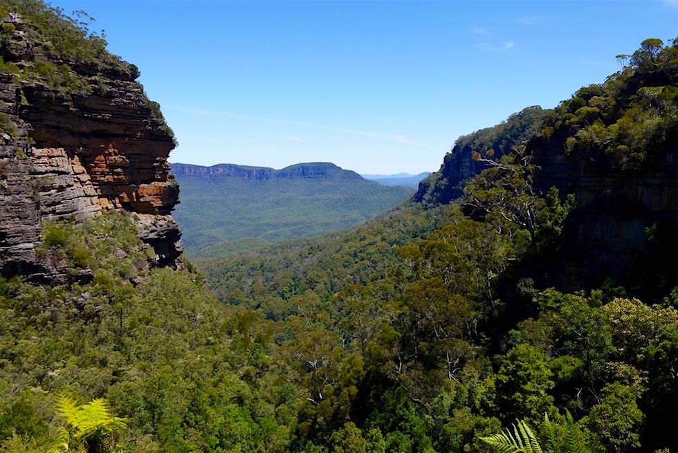 Blick von den Leura Cascades - Blue Mountains - NSW