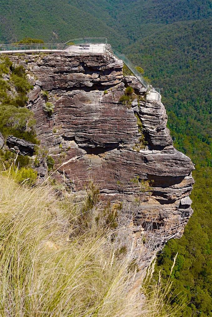 Ausblick auf Pulpit Lookout - Blue Mountains - NSW