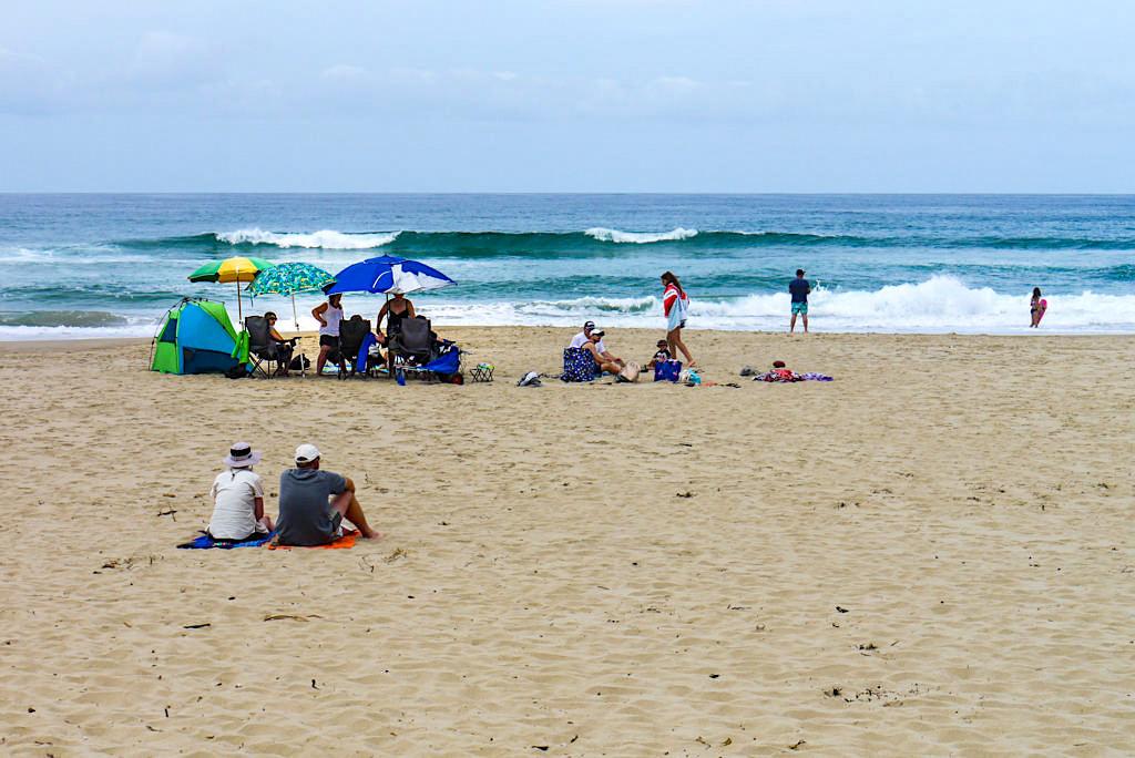 Unendlich langer Seven Mile Beach bei Shoalhaven südlich von Kiama - New South Wales