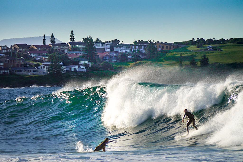 Beliebtes Surferparadies Bombo Beach im Norden von Kiama - New South Wales