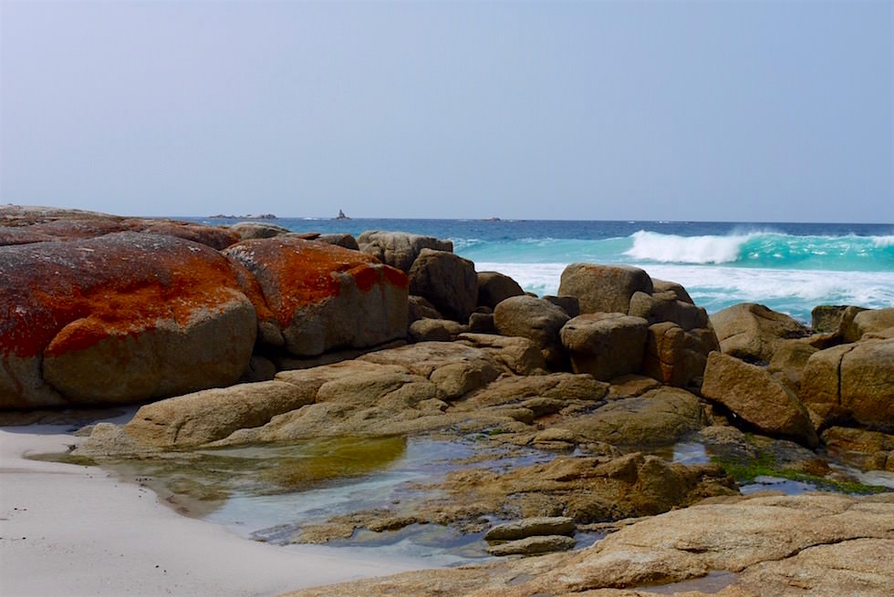 Wellen am Cosy Corner South - Bay of Fires - Tasmanien