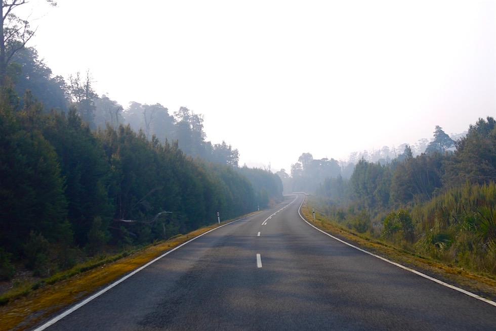 Waldbrände und Rauch im Cradle Mountain National Park - Tasmanien