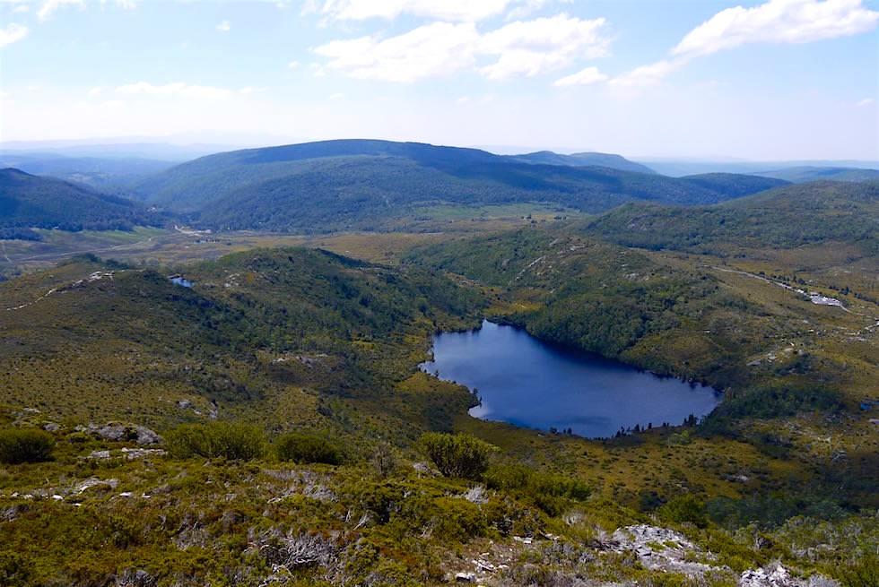 Blick auf Lilla Lake - Cradle Mountain Wanderung - Tasmanien