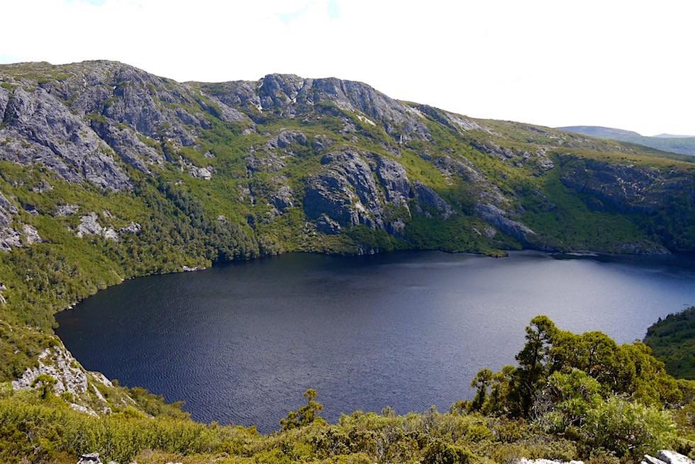 Cradle Mountain Wanderung: Blick auf den Crater Lake - Tasmaien
