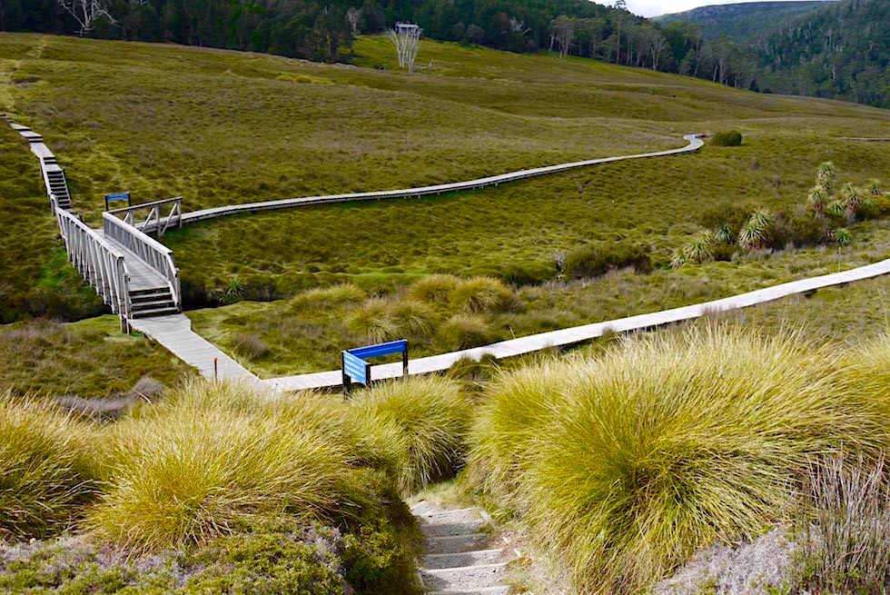Holzstege und Wege durch den Cradle Mountain Nationalpark - Tasmanien