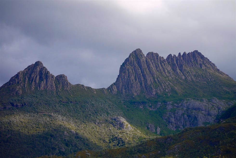 Cradle Mountain in Wolken - Tasmanien