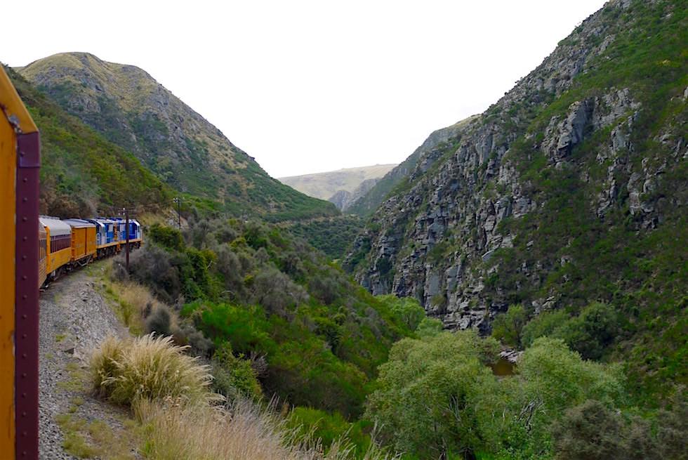 Taieri Gorge Railway Fahrt - Dunedin - Neuseeland Südinsel
