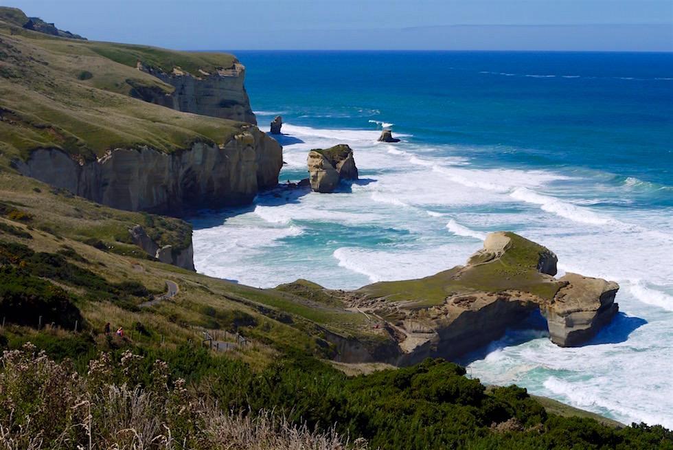 Atemberaubender Tunnel Beach bei Dunedin - Neuseeland