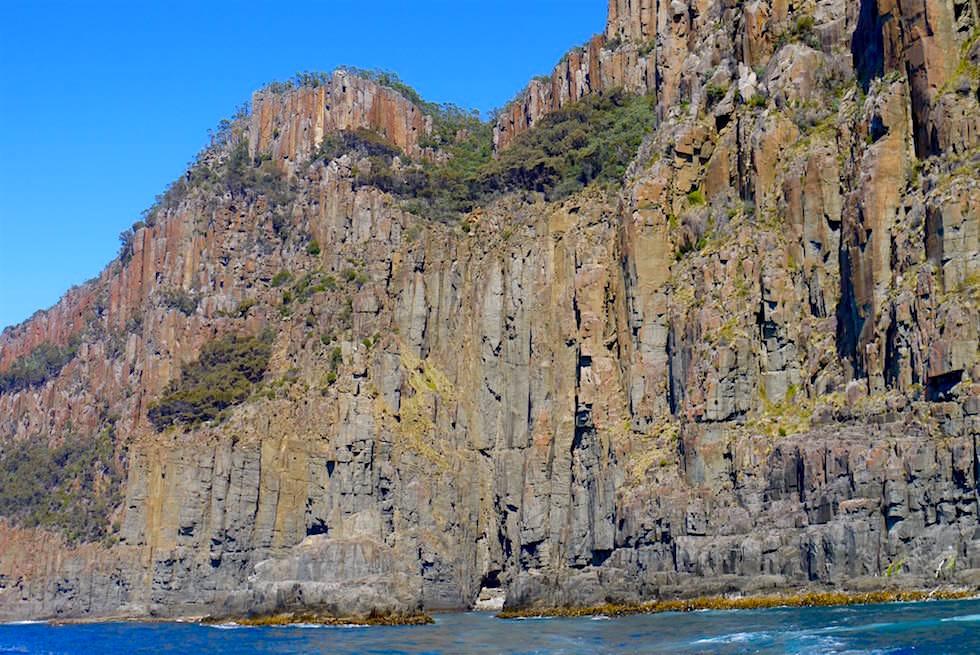 Dolorit Klippen an der Küste von South Bruny Island - Tasmanien