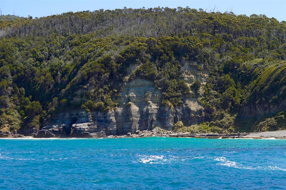 Buchten Felsen - Bruny Island Cruise - Tasmanien