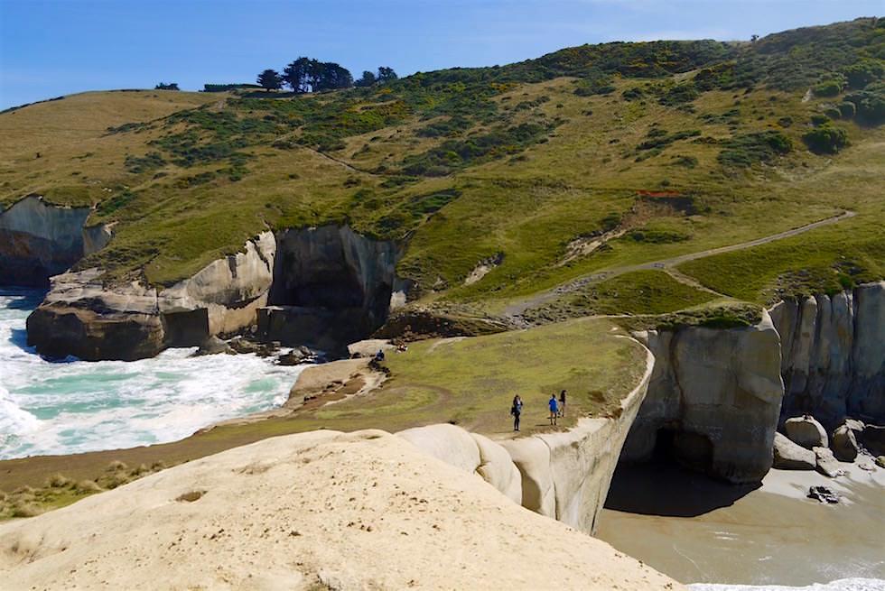 Blick von der Tunnel Beach Felszunge bei Dunedin - Neuseeland Südinsel