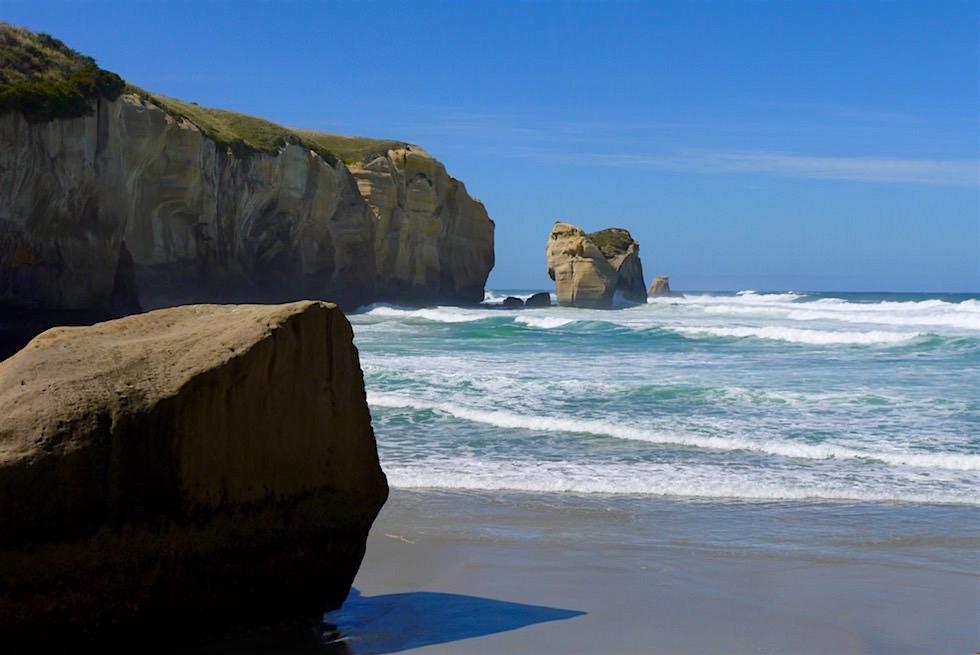 Strand des Tunnel Beaches bei Dunedin - Neuseeland