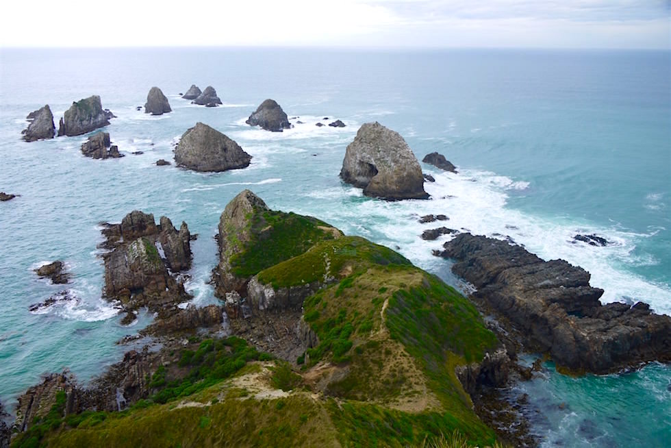 Blick auf den Nugget Point bei Wolken - Catlins - Neuseeland Südinsel