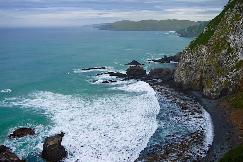Steile Klippen - Nugget Point - Southern Scenic Route in Neuseeland auf der Südinsel