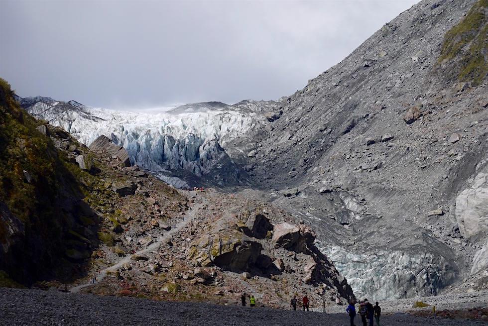 Anstieg Aussichtspunkt Fox Gletscher - Fox Glacier - Neuseeland Südinsel