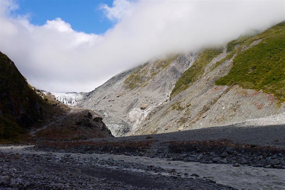 Flusstal & Wanderweg zum Fox Gletscher Aussichtspunkt - Neuseeland Südinsel