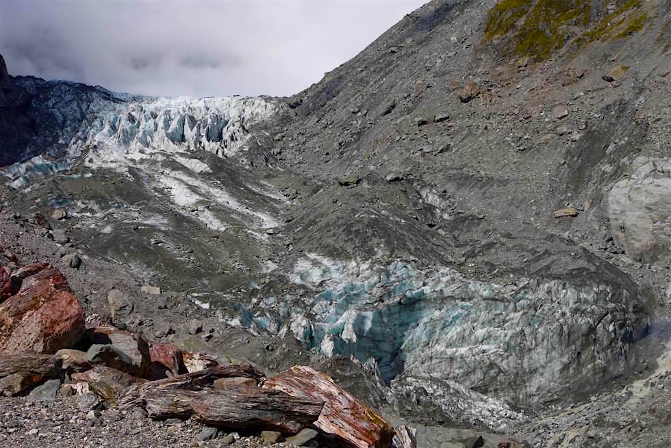 Fox Gletscher bei Wolken - Neuseeland Südinsel